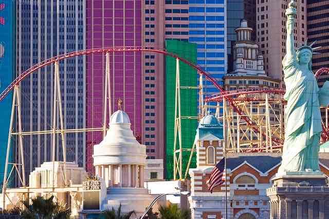 Roller Coaster New York-New York Hotel Las Vegas